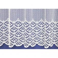 Záclona  313-bílá, výška 120 cm, metráž