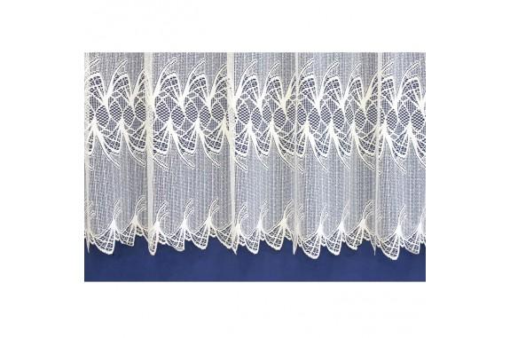 Záclona žakárová 319 bílá, výška 250 cm, metráž