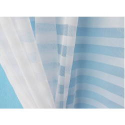 Záclona  R-166 -bílá, výška 250 cm, metráž