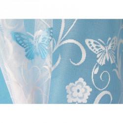 Hotová oblouková záclona Motýl modrý/ vzor 7514, 120x280cm