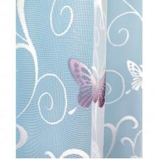 Hotová oblouková žakárová záclona Motýl fialový/ vzor 7514, 120x280cm