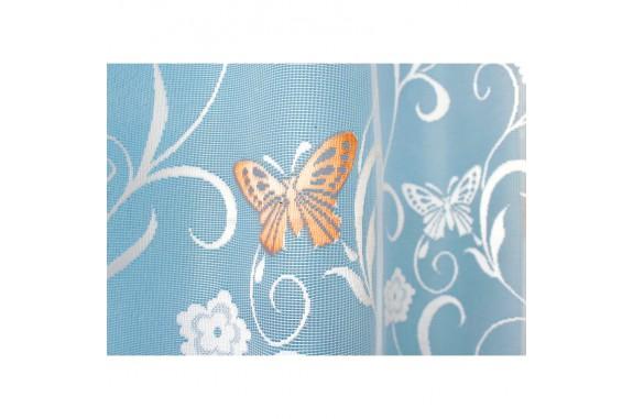 Hotová oblouková záclona Motýl oranžový/ vzor 7514, 180x320cm