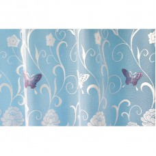 Hotová oblouková záclona Motýl fialový/ vzor 7514, 180x320cm