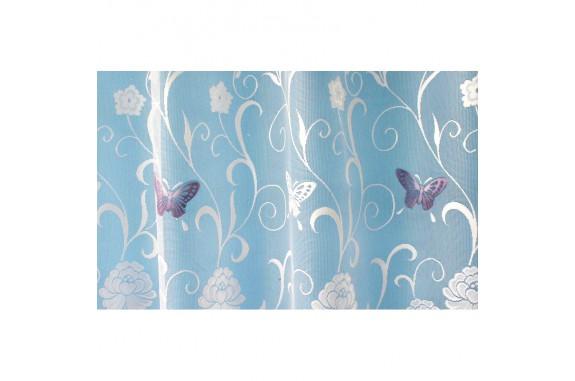 Hotová oblouková žakárová záclona Motýl fialový/ vzor 7514, 180x320cm