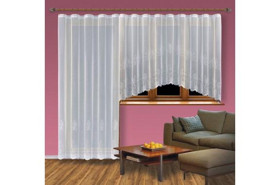 Hotová záclona Viktoria /Okno+balkon/ vzor 2211