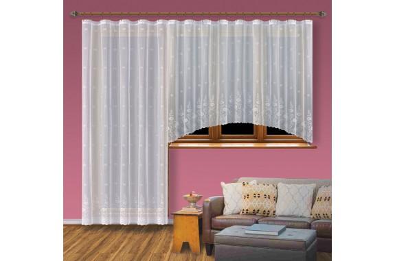 Hotová záclona Viktoria /Okno+balkon/ vzor 8227