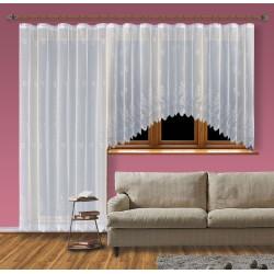 Hotová žakárová záclona Viktoria /Okno+balkon/ vzor 2072