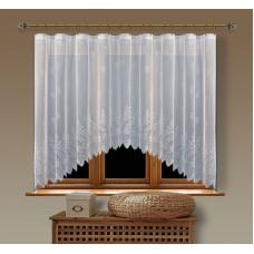Hotová oblouková záclona  Viktoria/ vzor 2072, 160x350cm